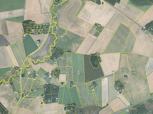 Cadastral parcel map