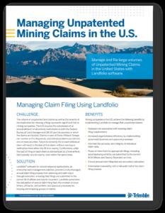 Using Landfolio for unpatented mining claims