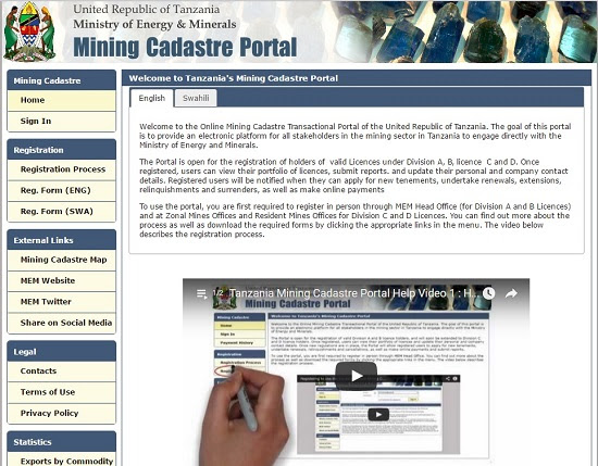 Tanzania Mining Cadastre Portal Landfolio