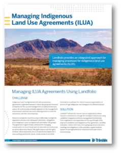 Managing ILUA Agreements Using Landfolio
