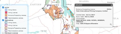 Malawi's Mining Cadstre Portal Now Online – Take A Look At Malawi's Active Mining Licences