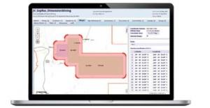 Landfolio agreement management screen