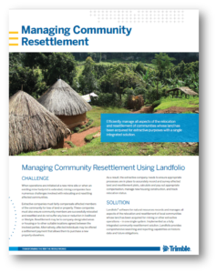 Managing Community Resettlement Using Landfolio