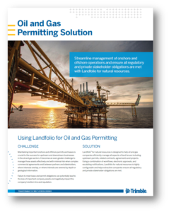 Using Landfolio for Oil and Gas Permitting
