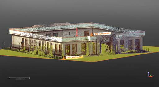 As part of their training, the educators created a point cloud of the TIIM cafeteria building.