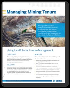 mining tenure management