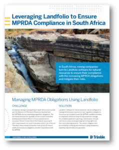 MPRDA Compliance Using Landfolio for Natural Resources